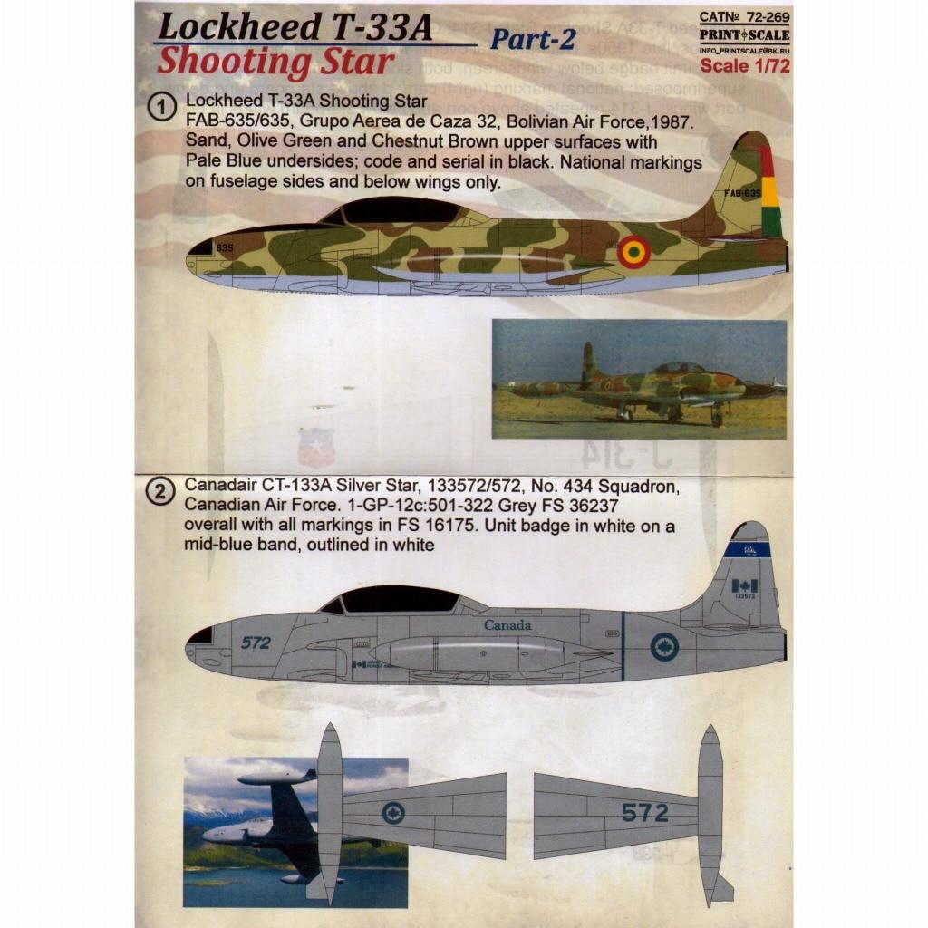 【新製品】72269)ロッキード T-33A シューティングスター Pt.2