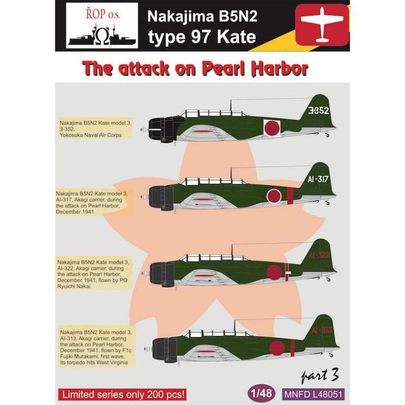 【新製品】MNFD48051)中島 B5N1 九七式艦上攻撃機 Pt.3