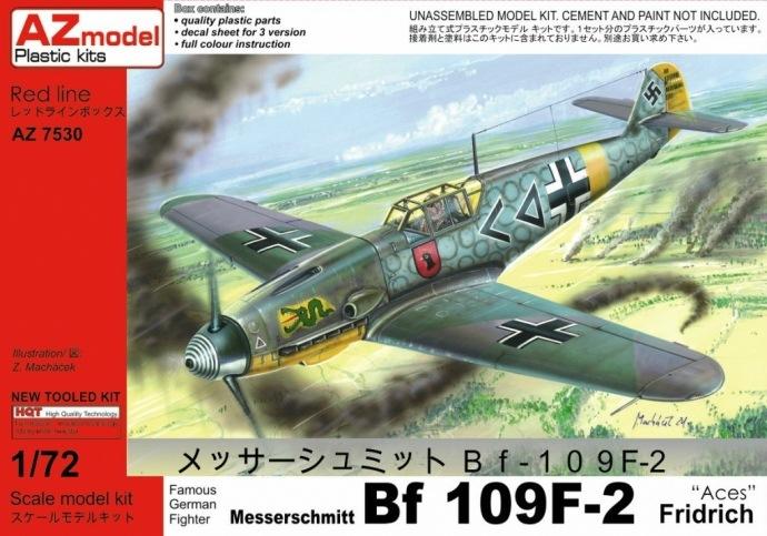 【新製品】AZ7530)メッサーシュミット Bf109F-2 Aces