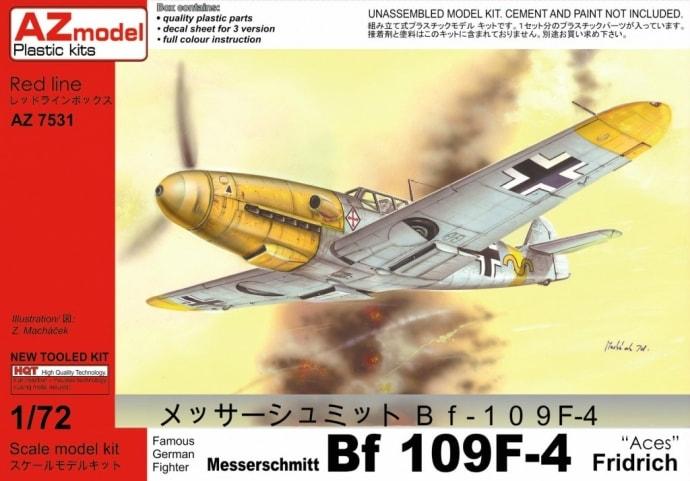 【新製品】AZ7531)メッサーシュミット Bf109F-4 Aces