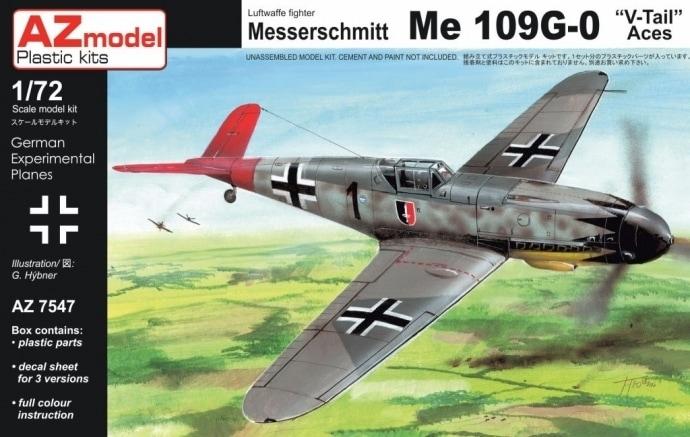 【新製品】AZ7547)Bf109G-0 Vテール エース
