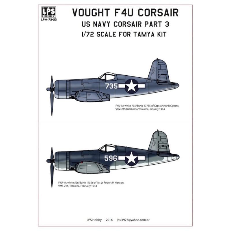 【新製品】LPS HOBBY LPM72-20)F4U-1A コルセア アメリカ海軍 Pt.3