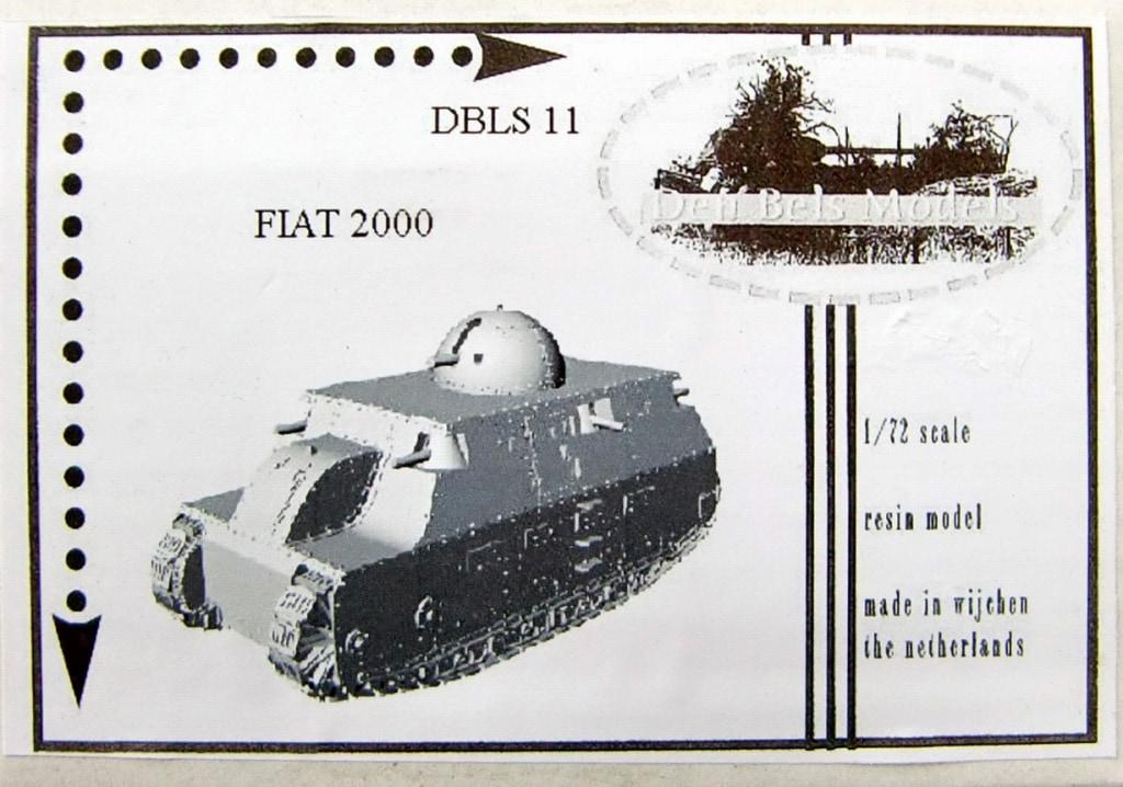 【新製品】Den Bels Models 011)フィアット 2000