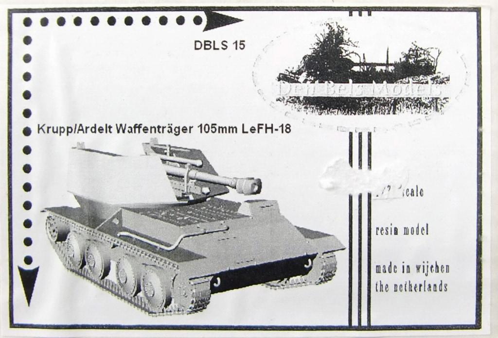 【新製品】Den Bels Models 015)クルップ/アルデルト ヴァッフェントレーガー 105mm自走榴弾砲 leFH18