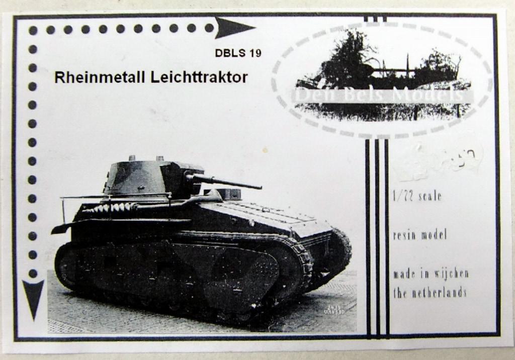 【新製品】Den Bels Models 019)ラインメタル ライヒトトラクトーア(VK-31)