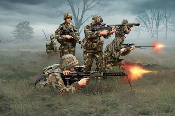 【新製品】02519)現用 イギリス歩兵