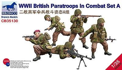 【新製品】CB35130)英 空挺部隊兵士5体 戦闘シーンAセット