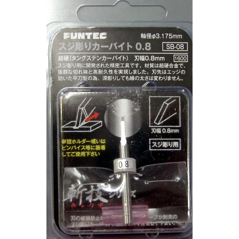 【新製品】SB-08)スジ彫りカーバイト0.8 刃幅0.8mm