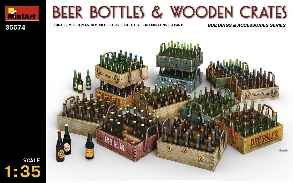 【新製品】35574)ビールビン&木枠箱