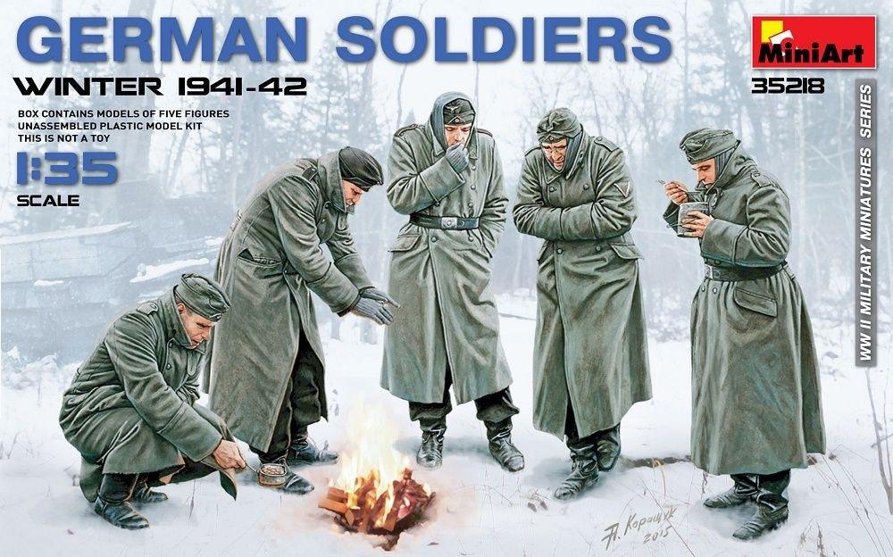 【新製品】35218)ドイツ兵(1941-42冬季)防寒服着用 5体入
