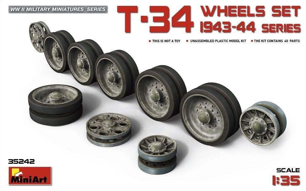 【新製品】35242)T-34 ホイールセット(1943-44年生産シリーズ)