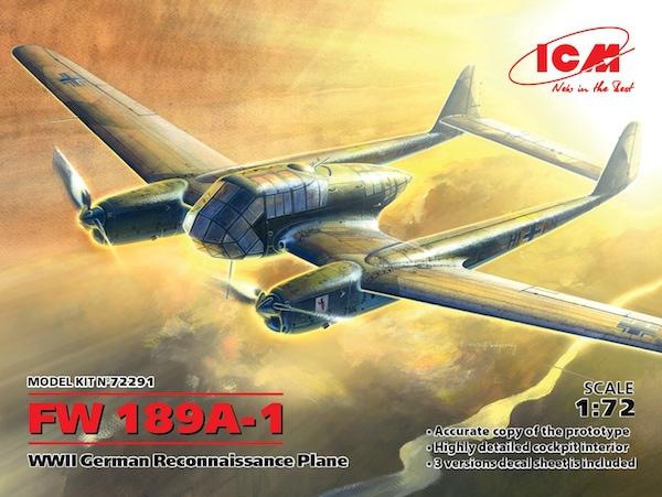 【新製品】72291)フォッケウルフ Fw189A-1