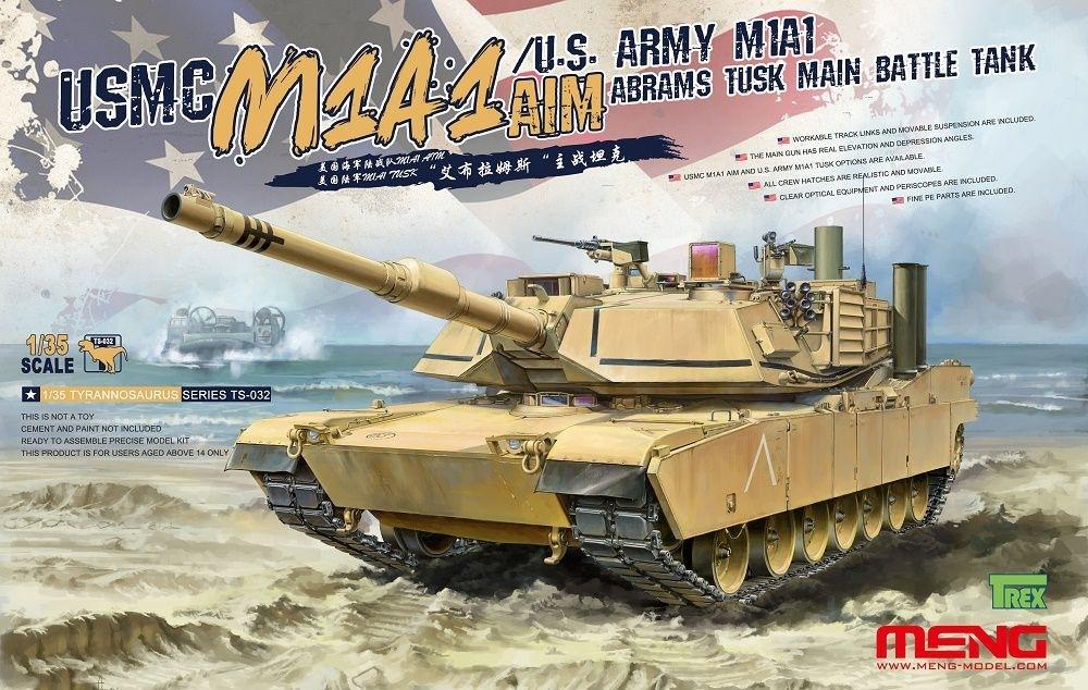 【新製品】TS-032)アメリカ主力戦車 M1A1 AIM/TUSK エイブラムス