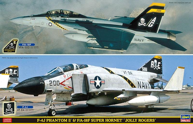 """【新製品】SP347)F-4J ファントムII & F/A-18F スーパーホーネット """"ジョリーロジャース"""""""