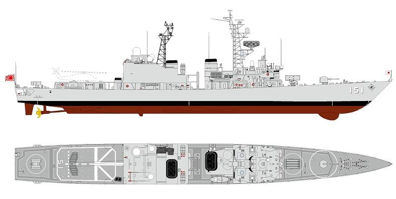 【新製品】J71)海上自衛隊 護衛艦 DD-151 あさぎり