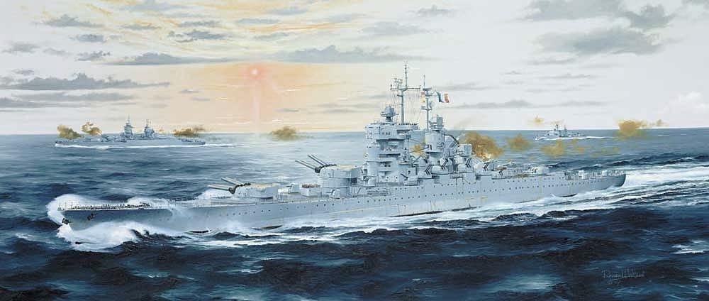 【新製品】W197)リシュリュー級戦艦 ジャン バール 1955
