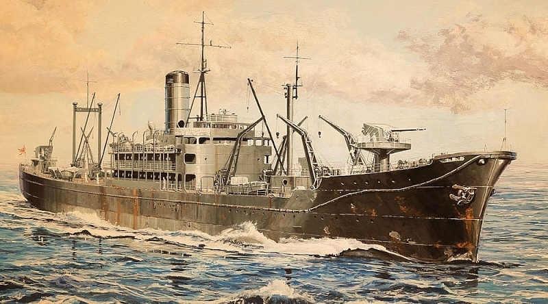 【新製品】W186SP)給糧艦 伊良湖 最終時 エッチング&木製甲板(各2枚)付 特別限定版