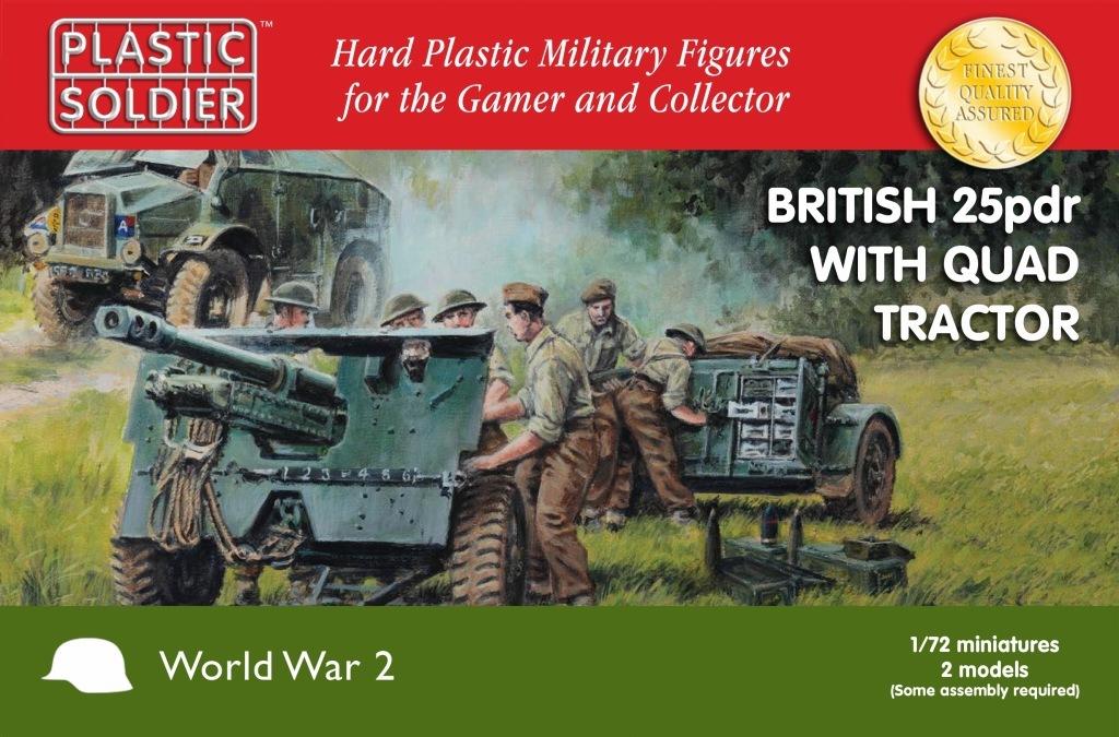 【新製品】WW2G20006)イギリス モーリス クォードトラクター & 25ポンド砲