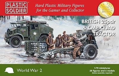 【新製品】WW2G20007)イギリス CMP クォードトラクター & 25ポンド砲