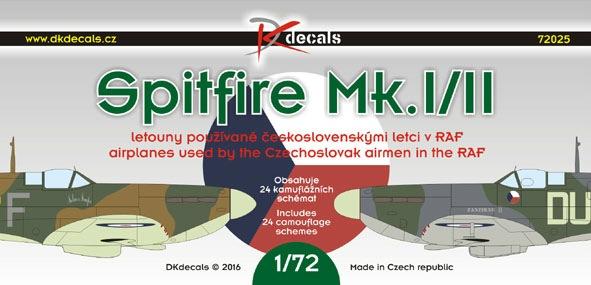 【新製品】DKデカール 72025)スーパーマリン スピットファイア Mk.I/II チェコスロバキアパイロット