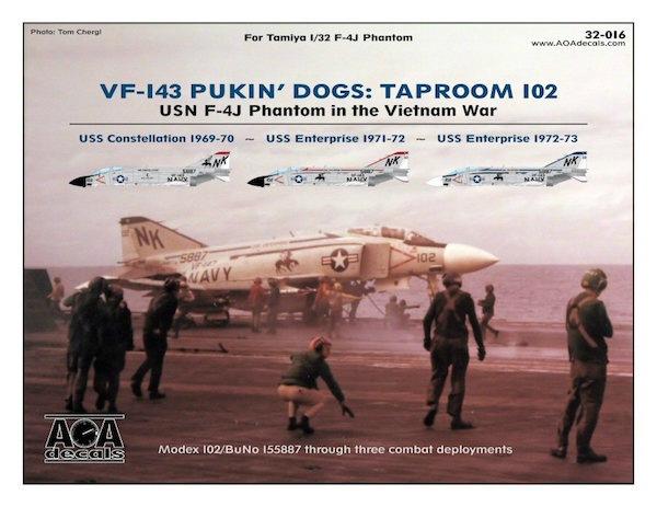 【新製品】AOAデカール 32-016)F-4J ファントムII VF-143 ピューキンドッグス