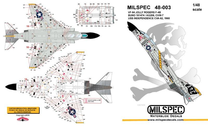 【新製品】MILSPEC 48-003)F-4B ファントムII VF-84 ジョリーロジャース 1965
