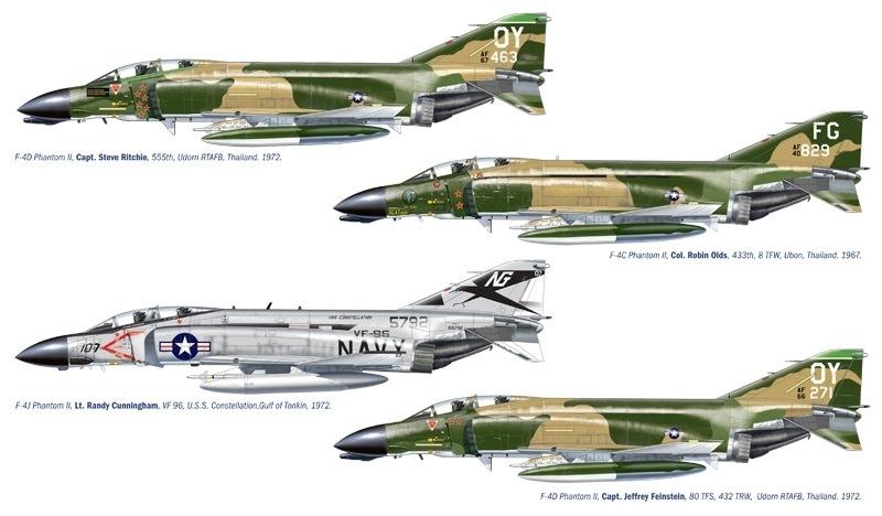 【新製品】1373)F-4C/D/J ファントムII ベトナム戦争エース