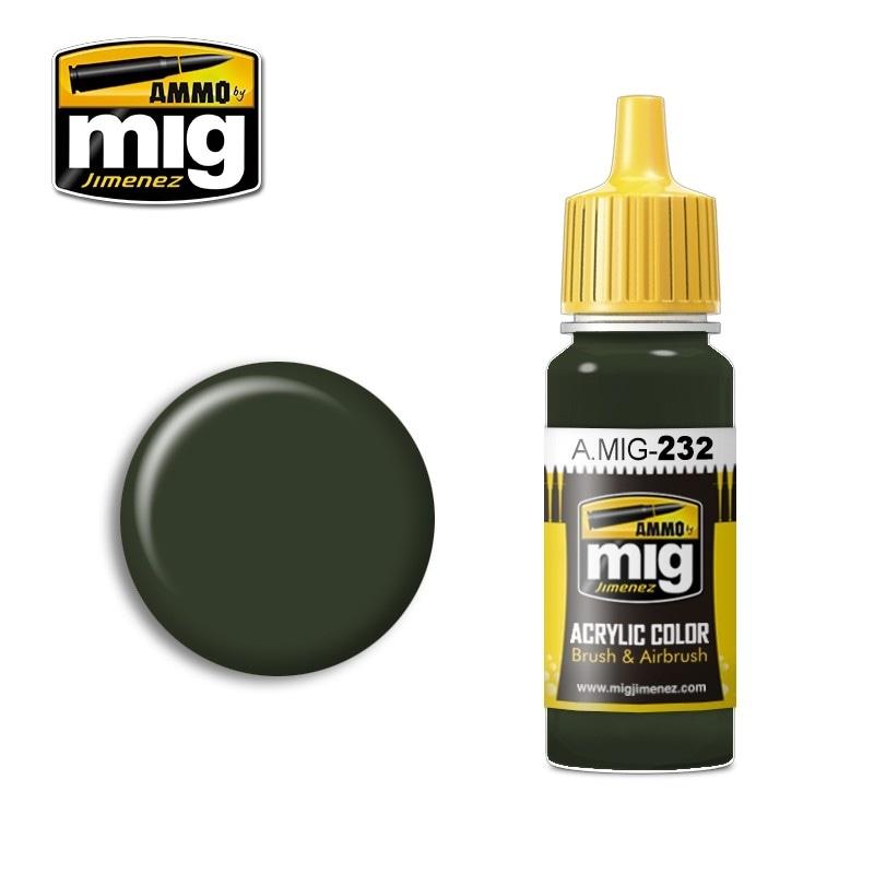 【新製品】A.MIG-232)RLM70 シュバルツグリュン(黒緑) A.MIG-232)RLM70 シュバルツグリュン(黒緑)