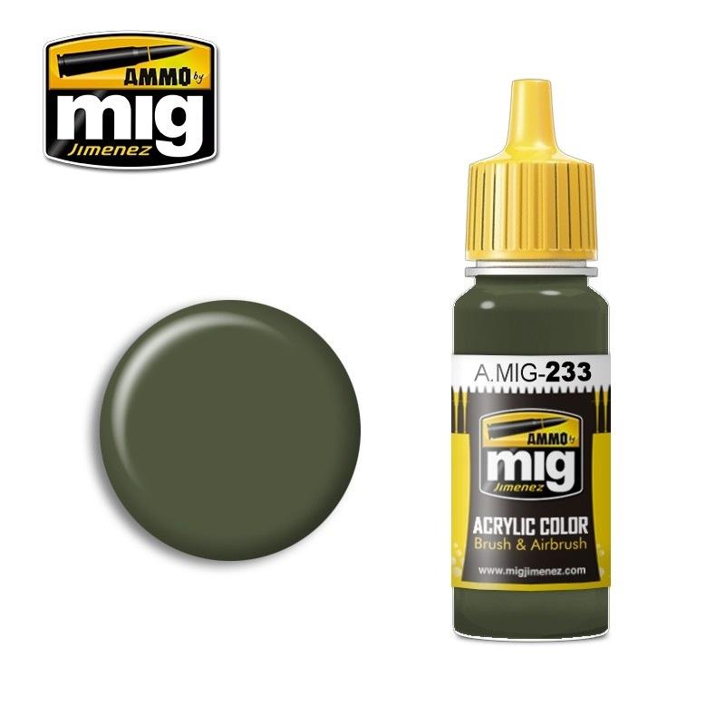 【新製品】A.MIG-233)RLM71 デュンケルグリュン(濃い緑)