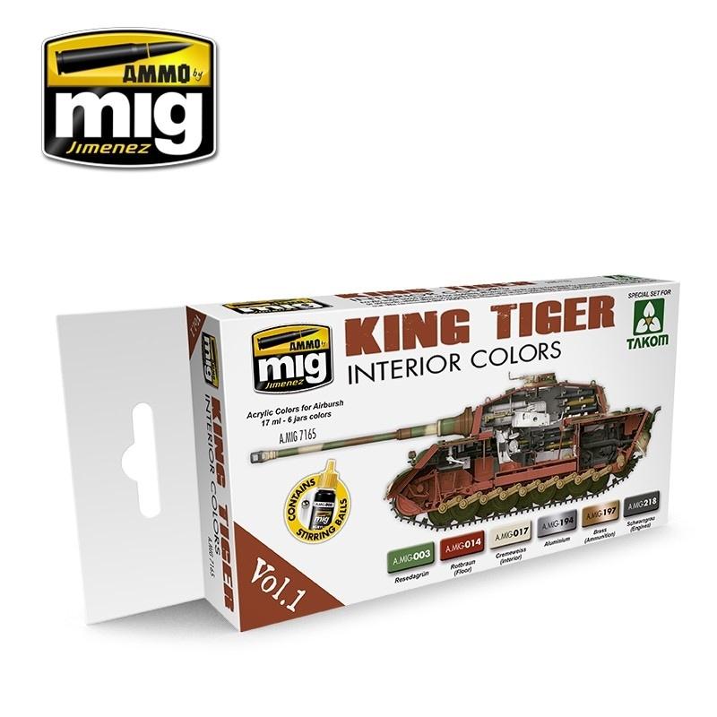 【新製品】A.MIG7165)キングタイガーインテリアカラーズ