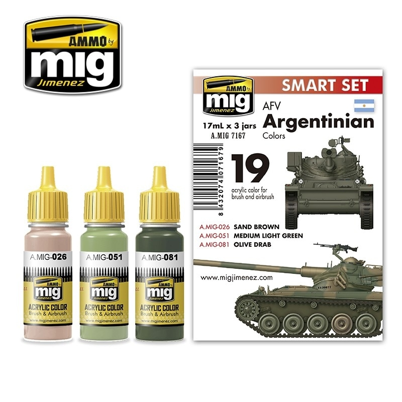 【新製品】A.MIG7167)アルゼンチン軍AFVカラーズ