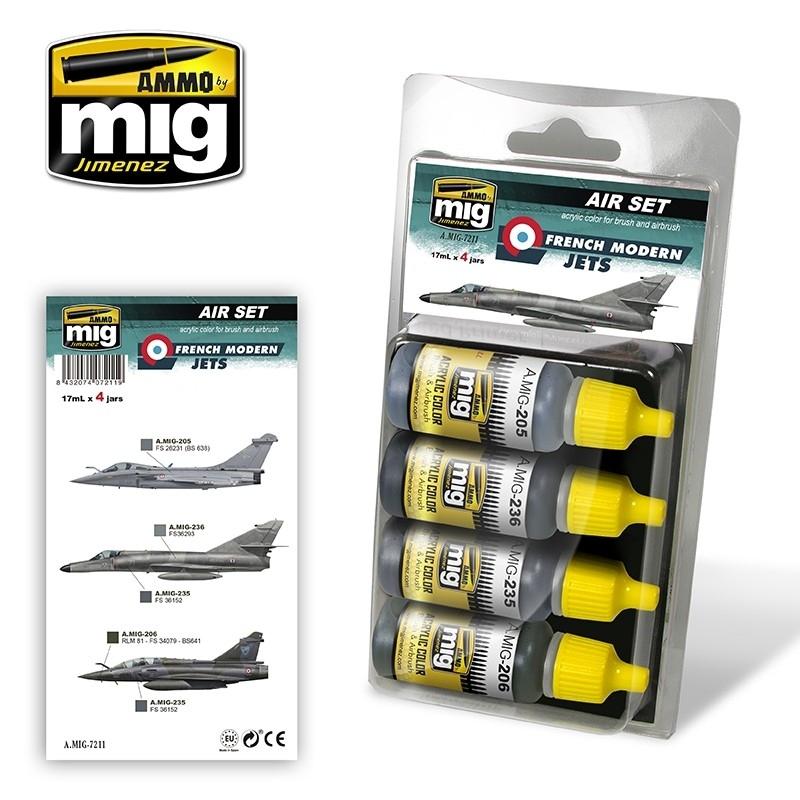 【新製品】A.MIG-7211)現用フランス軍 ジェット機カラーセット