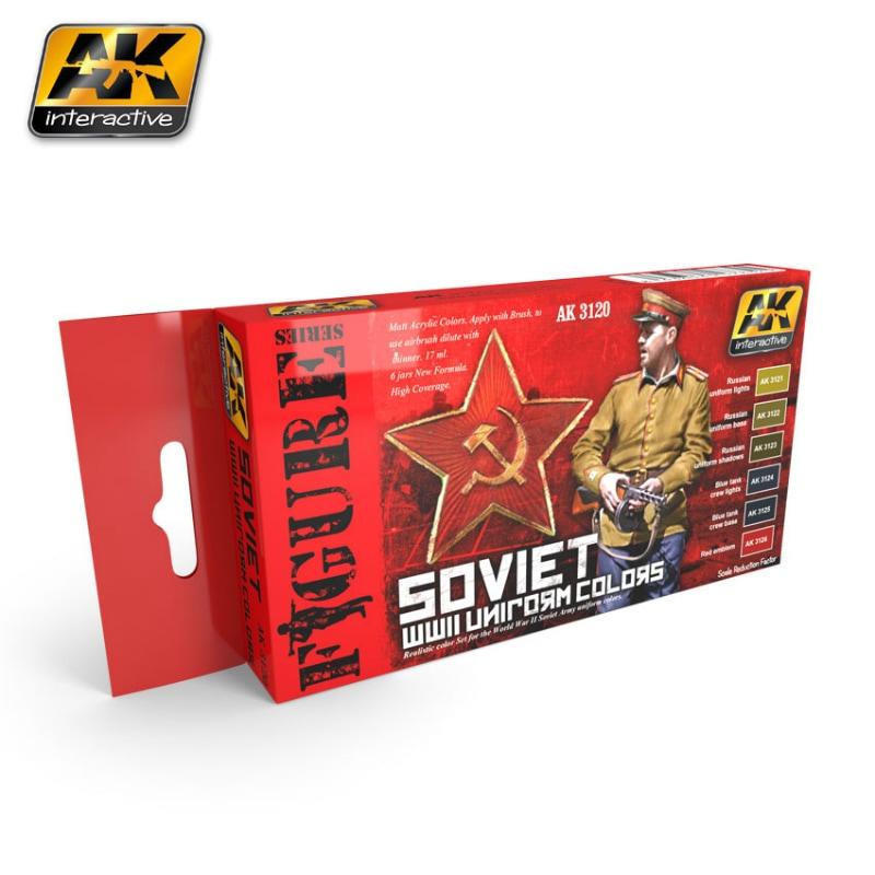 【新製品】AK3120)WWII ソビエト軍ユニフォームカラーセット