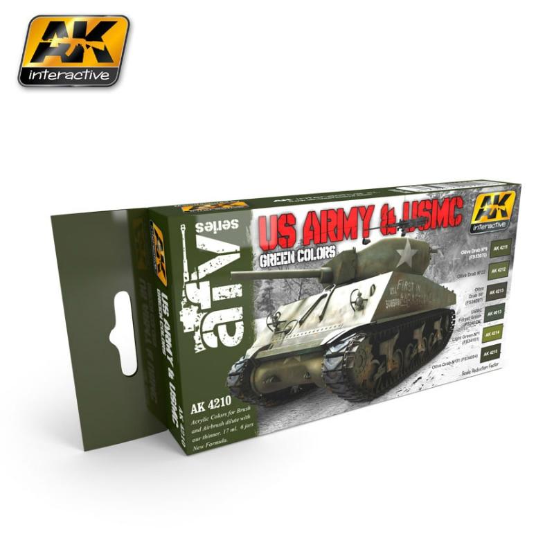 【新製品】AK4210)アメリカ陸軍&海兵隊 グリーンカラーズ
