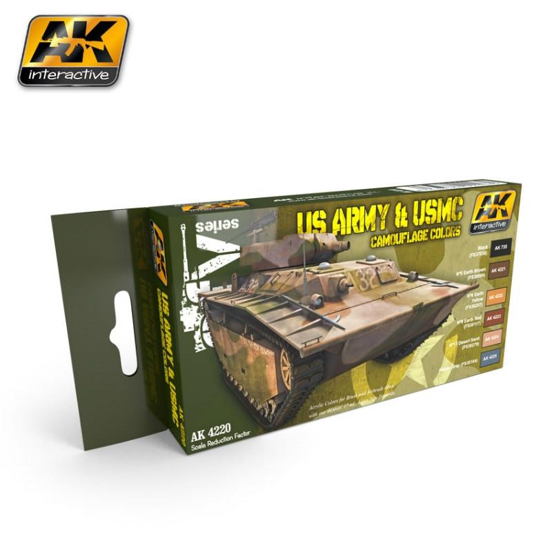 【新製品】AK4220)アメリカ陸軍&海兵隊 カモフラージュカラーズ