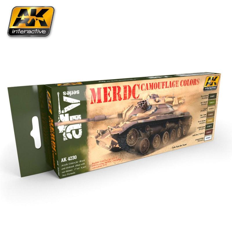 【新製品】AK4230)現用アメリカ陸軍MERDC MERDC カモフラージュカラーズ