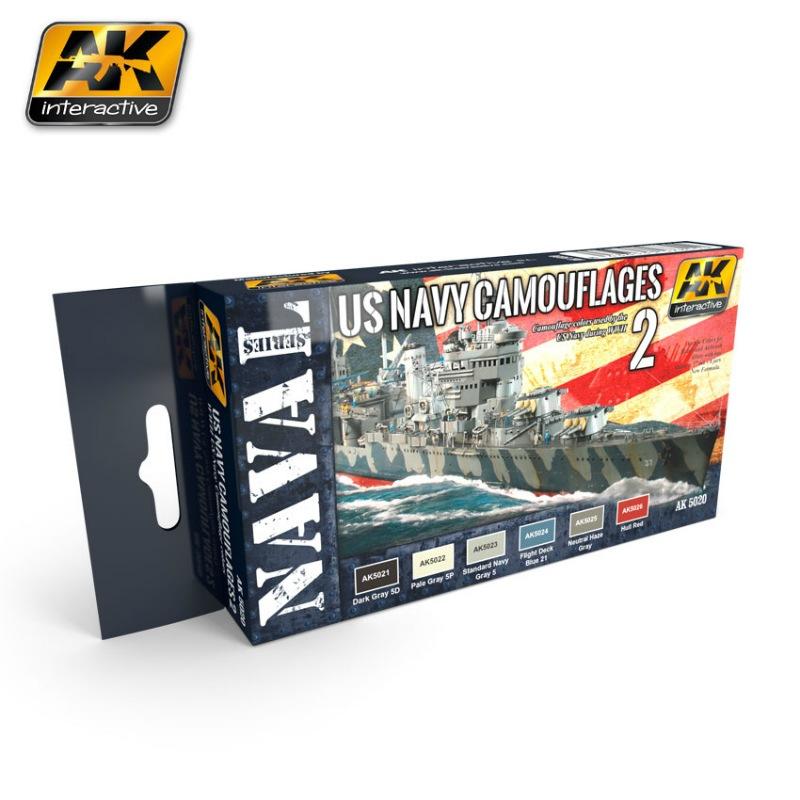 【新製品】AK5020)WWII アメリカ海軍 迷彩塗装色セット2