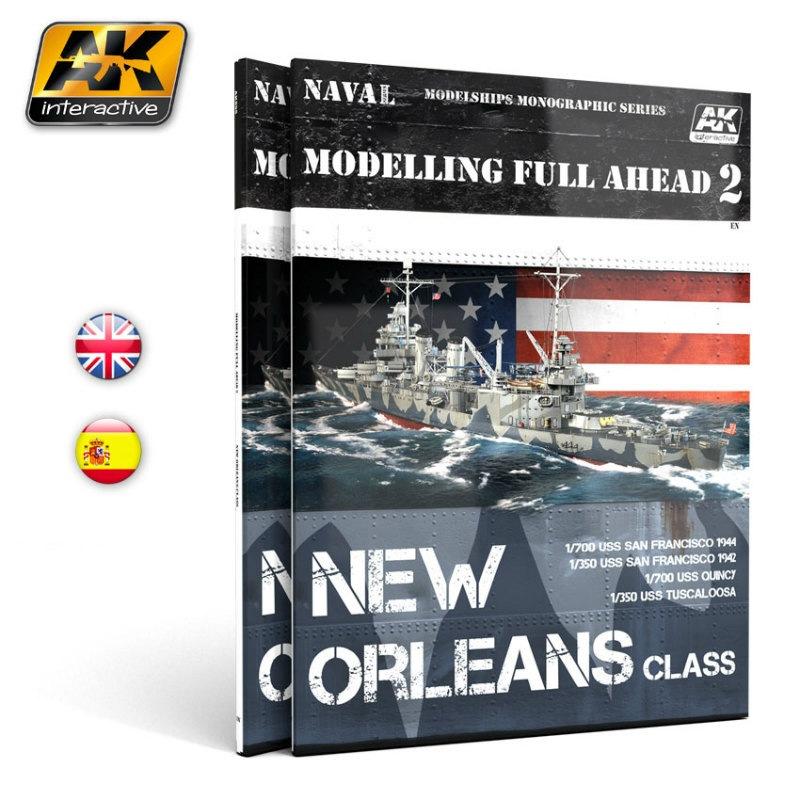 【新製品】AK895)モデリング・フル・アヘッド 2 ニューオーリンズ級重巡洋艦