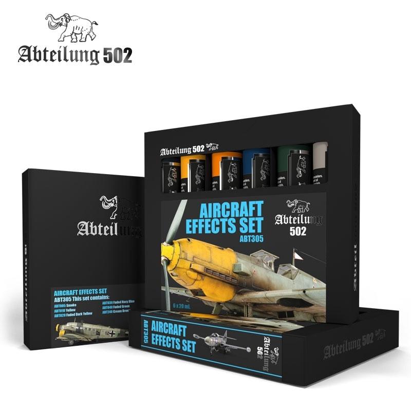【新製品】ABT305)航空機向け油彩ウェザリングセット