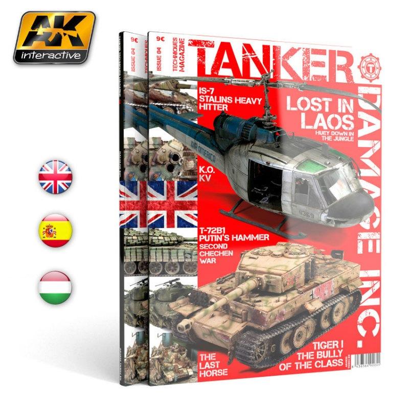 【新製品】AK4820)タンカーテクニックマガジン04 ダメージ表現