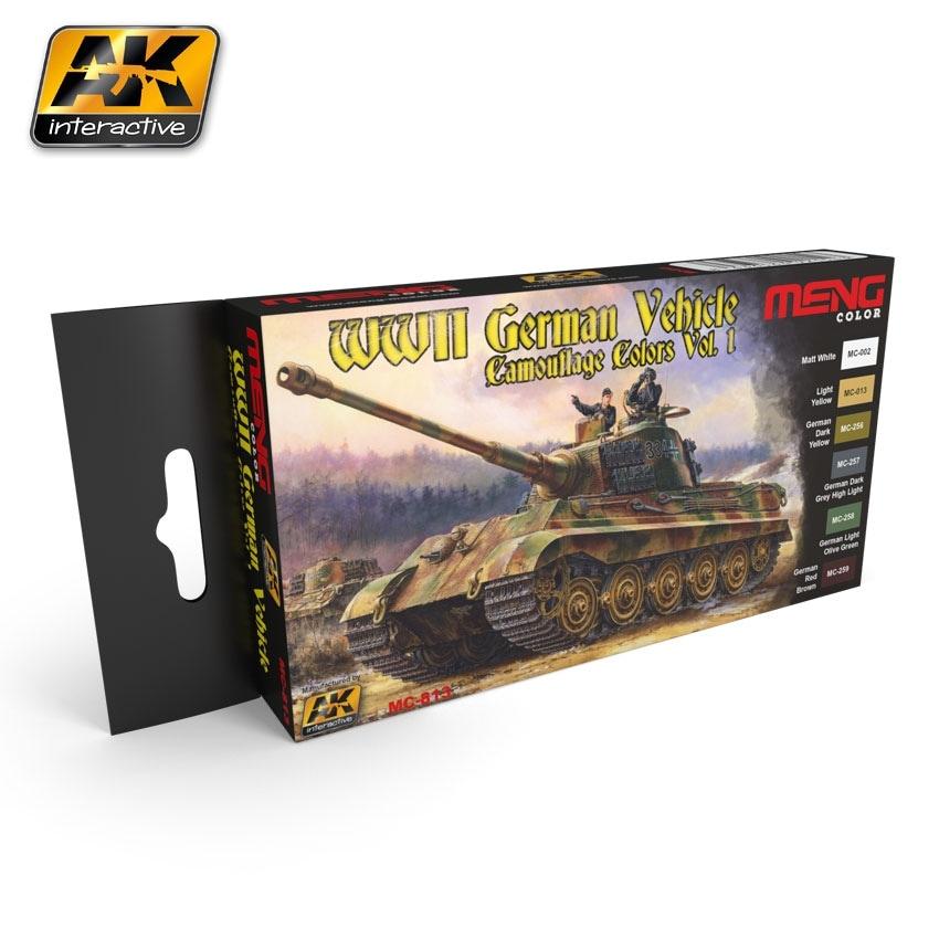 【新製品】MC813)WWII ドイツ軍迷彩カラーセット1