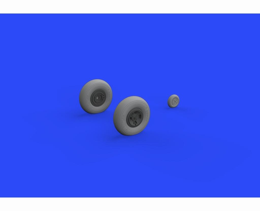 【新製品】ブラッシン632106)スピットファイアMk.IX ホイール (4本スポーク)