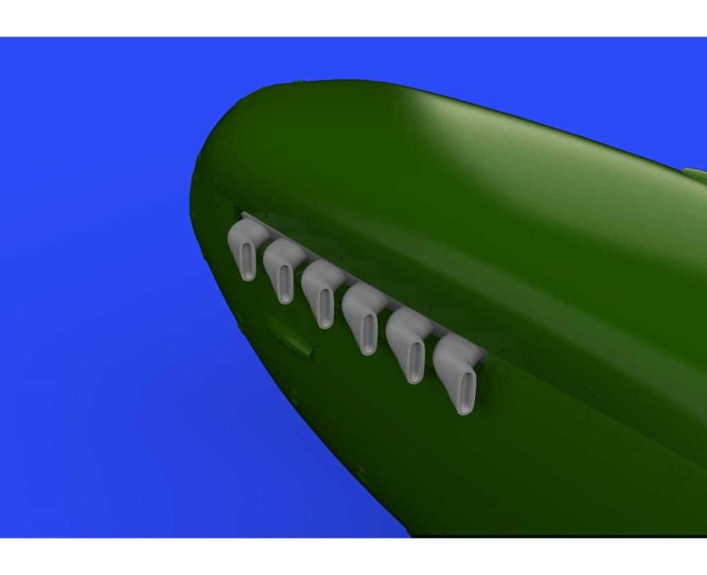 【新製品】ブラッシン632108)スピットファイアMk.IX 排気管(フィッシュテール型)