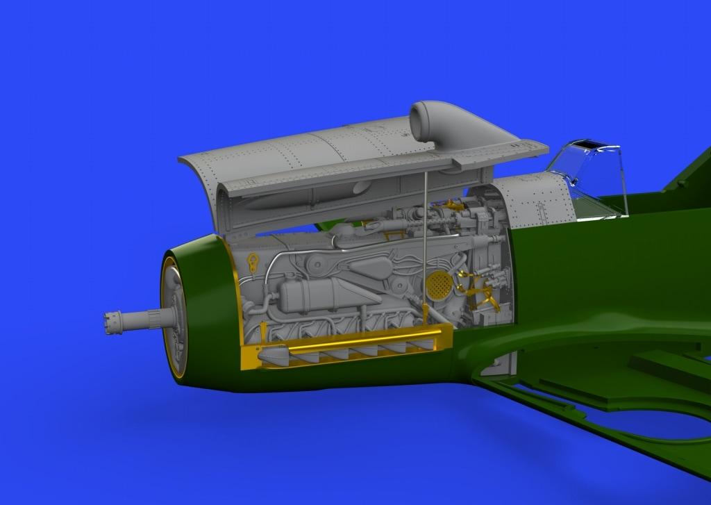 【新製品】ブラッシン648300)メッサーシュミット Bf109F エンジン/胴体内機銃