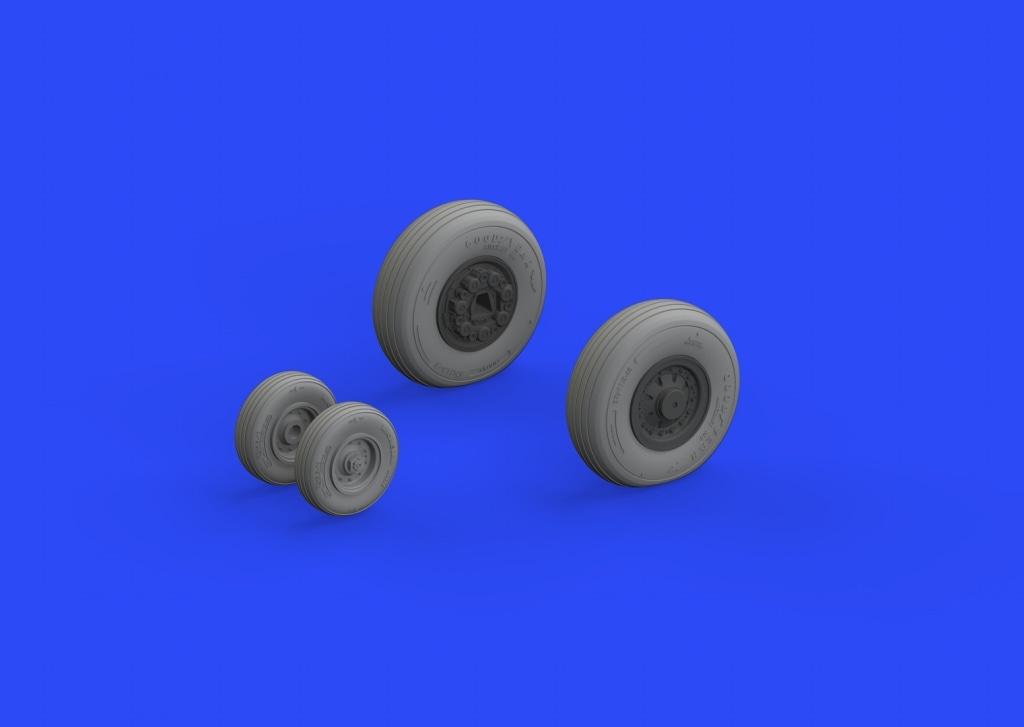 【新製品】ブラッシン648304)F-14A トムキャット 車輪 初期型
