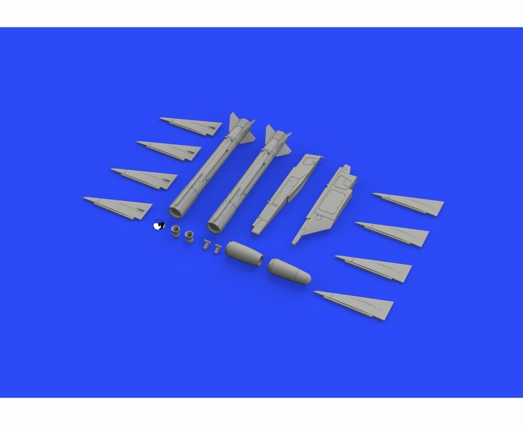 【新製品】ブラッシン648324)マトラ R-530 空対空ミサイル (ランチャー付き)