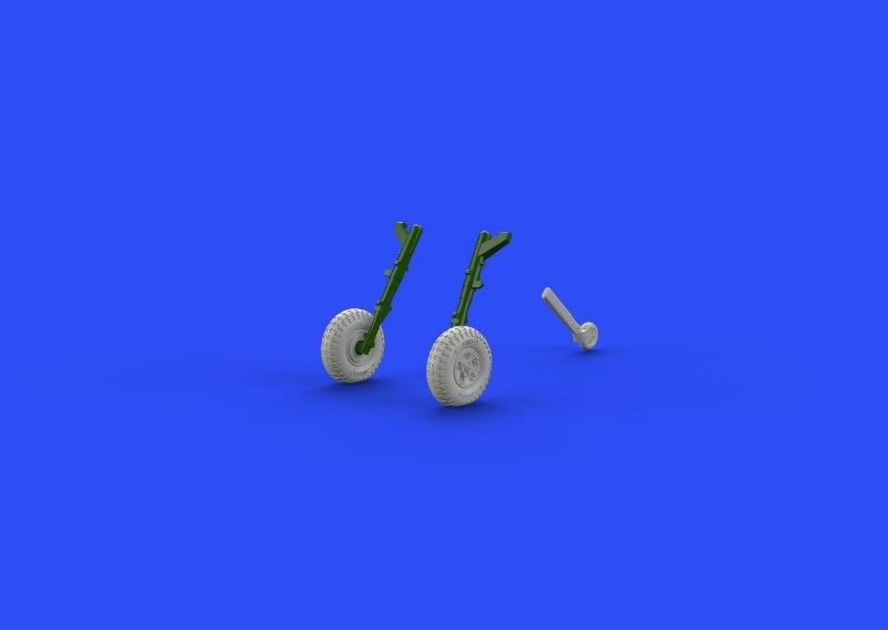 【新製品】ブラッシン672107)スピットファイアMk.IX 車輪 5スポーク パターン