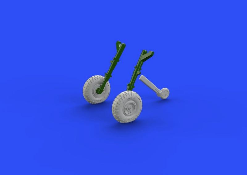 【新製品】ブラッシン672109)スピットファイアMk.IX 車輪 4スポーク パターン