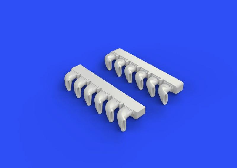 【新製品】ブラッシン672110)スピットファイア 排気管 フィッシュテイル