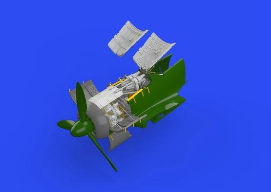 【新製品】ブラッシン672118)フォッケウルフ Fw190A-5 エンジン&胴体内機銃